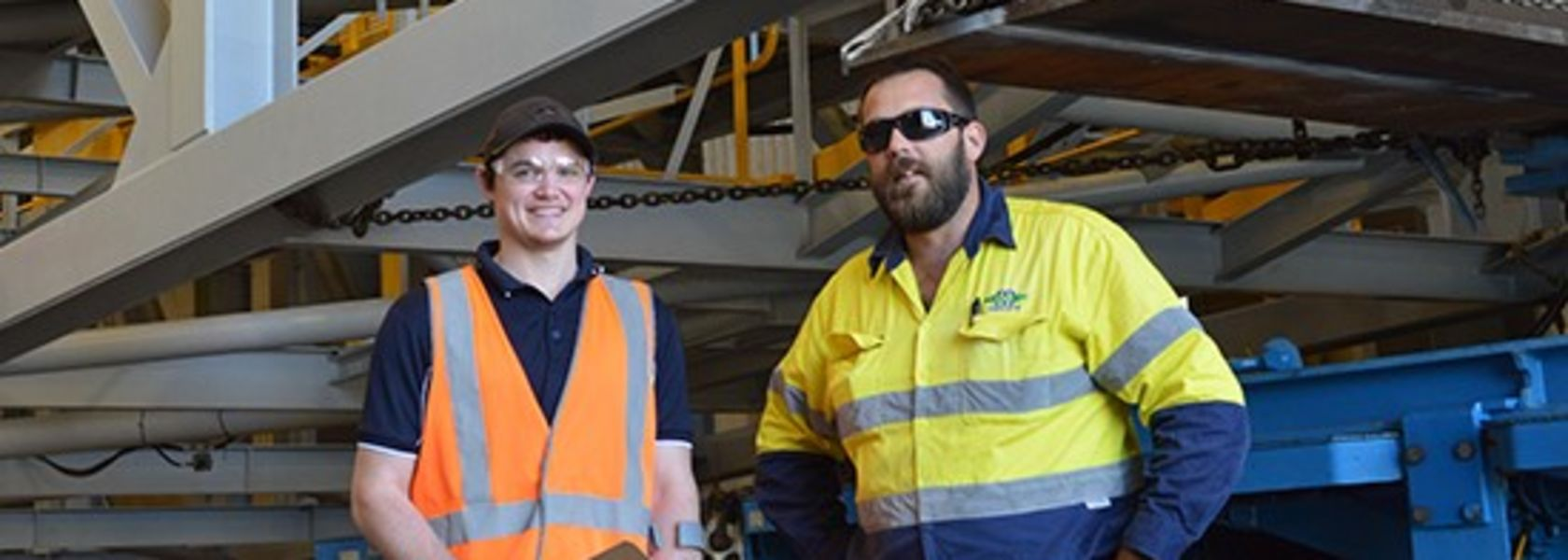 Award for employee's determination to keep working after conveyor incident