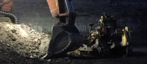 Dozer and excavator make dangerous contact