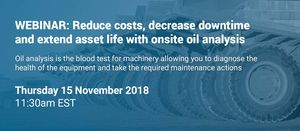 Reduce costs, decrease downtime and extend asset life with onsite oil analysis