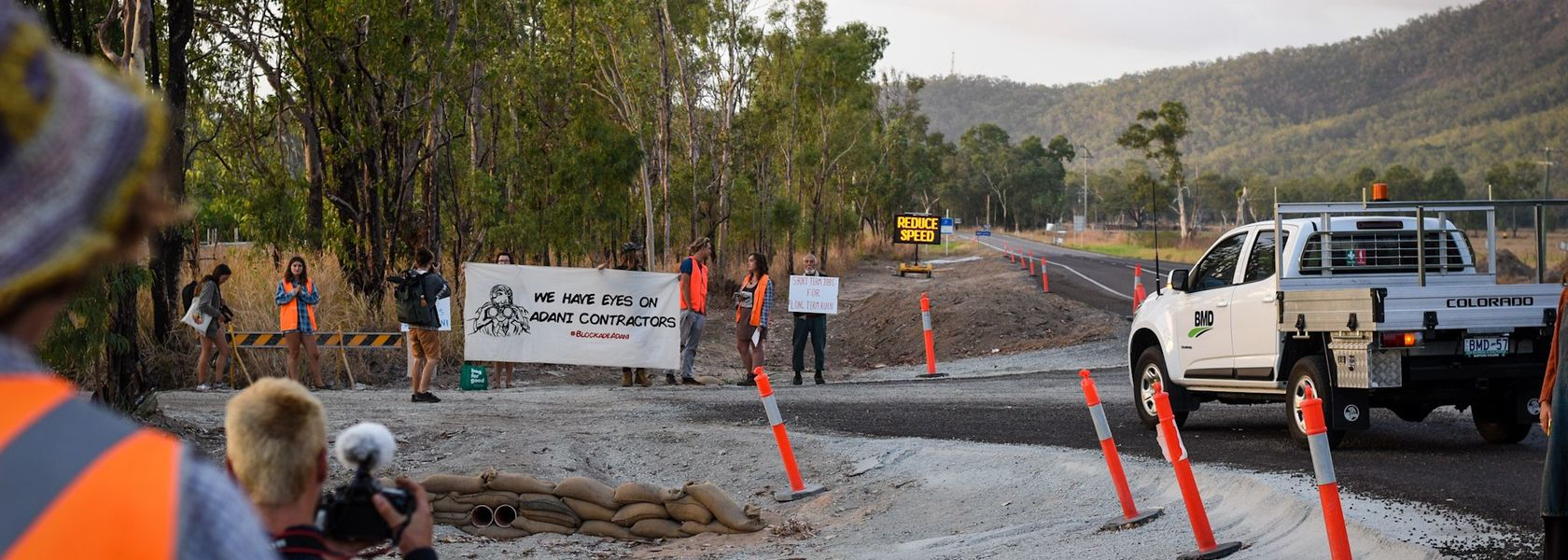 Work disrupted at Adani site