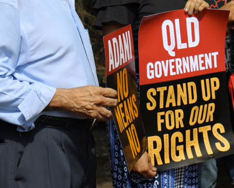 Traditional owners announce Adani challenge funding