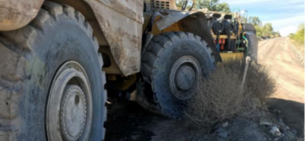 Steering failure causes haul truck to run off road