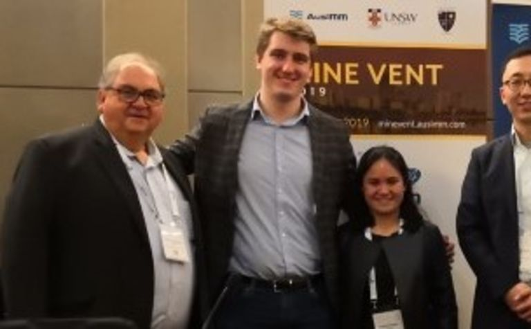 UNSW sponsors students to attend mine ventilation conference