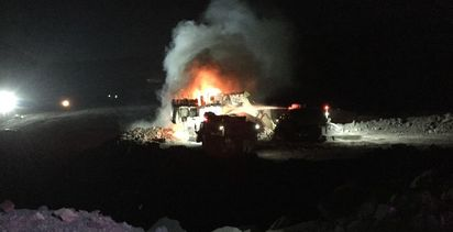 Emergency patrol needed to quell excavator fire
