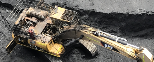 Excavator fire causes operator to jump for his life