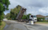 Tipper truck hits power line