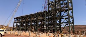 South Flank ore handling plant taking shape