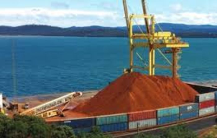Bald Hill bauxite load ready and waiting at port