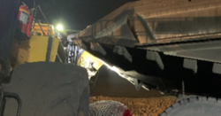 Loader operator at risk after collision with haul truck