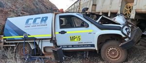 Rio Tinto train hits stolen car
