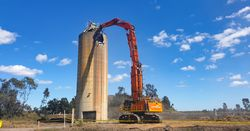 Swiss Army knife-like demolition excavator heads east
