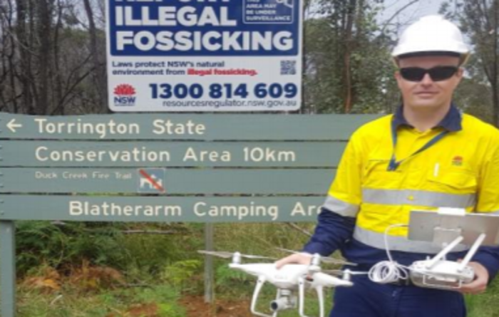 Illegal fossickers can't hide from drone surveillance in NSW
