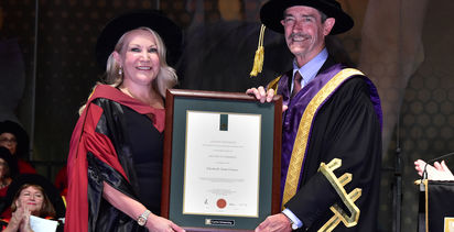 Honorary honour for Gaines