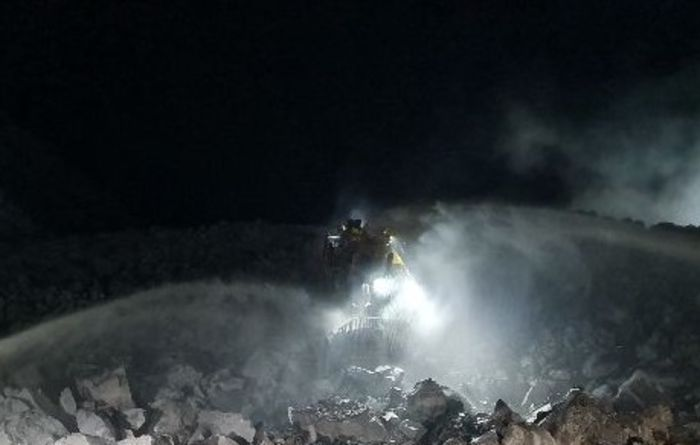 Operator injury after dozer fire