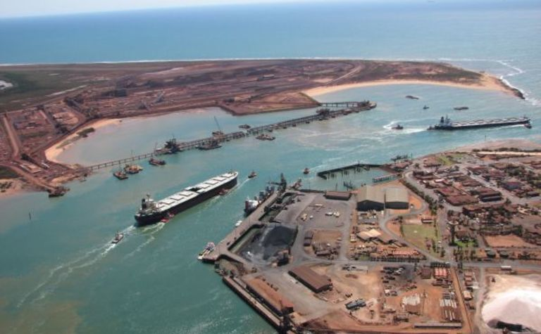 Port pinch bites BHP iron ore flow