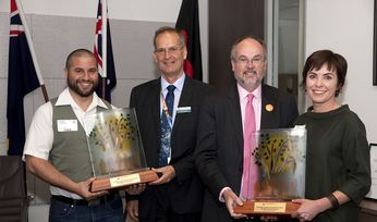 Miners awarded for community work