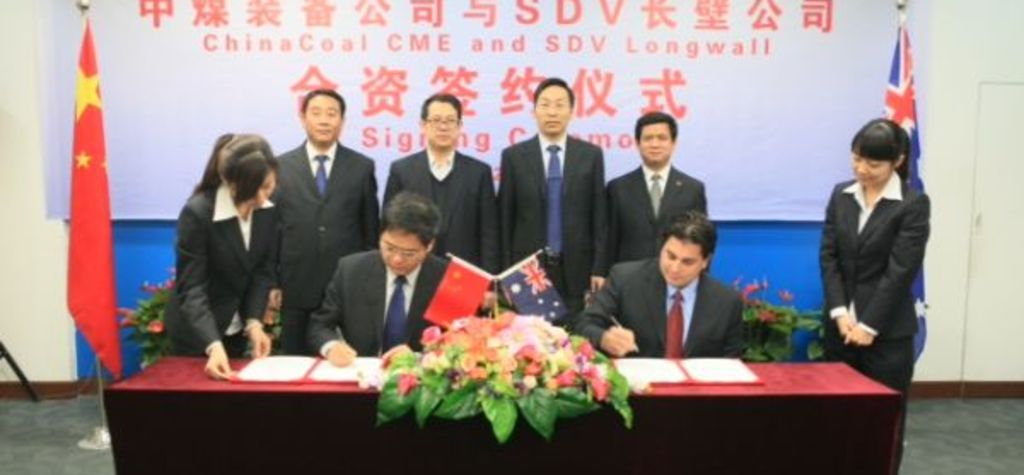 Chinese longwall supply giant links up with SDV