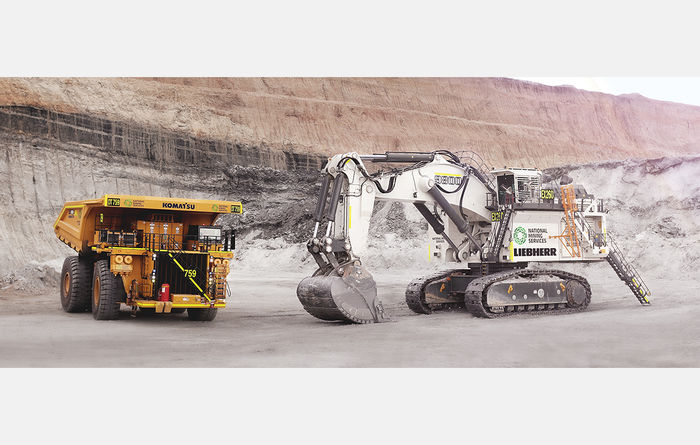 National Group delivers Liebherr R9800 and 3 Komatsu 930Es to Boggabri Coal Mine