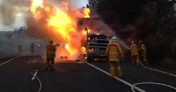 Truck fire issue flares up again