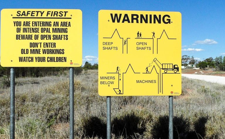 Safety shafted at Lightning Ridge