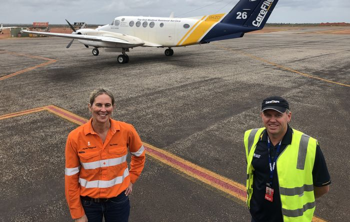 Rio in flight for Top End care